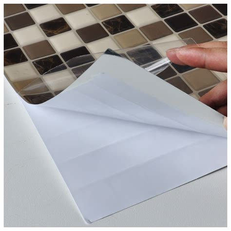 diy vinyl tile backsplashes adhesive wall covering 10