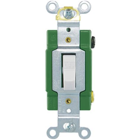 Shop Cooper Wiring Devices Amp White Single Pole Light