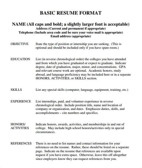basic resume sle free basic resume template word health symptoms and cure com