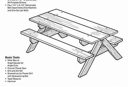 Picnic Table Plans Plan Bois Blueprint Child