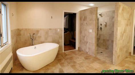 open showers open shower bathroom design