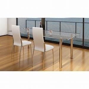 Stühle Esszimmer Weiß : der esszimmer st hle 2er set wei chrom kunstleder online shop ~ Sanjose-hotels-ca.com Haus und Dekorationen