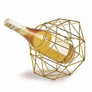Diamond Wine Bottle Holder Gold