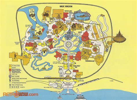 walt disney world maps retrowdw