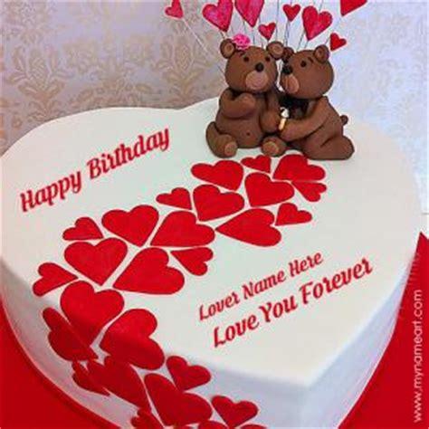 write   heart birthday cake  lover wishes