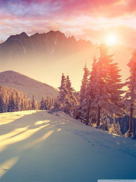 sunset winter shadows  hd desktop wallpaper   ultra