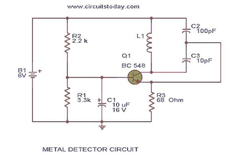 metal detector circuit year projects