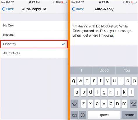 iphone auto reply text how to turn do not disturb on iphone for a contact