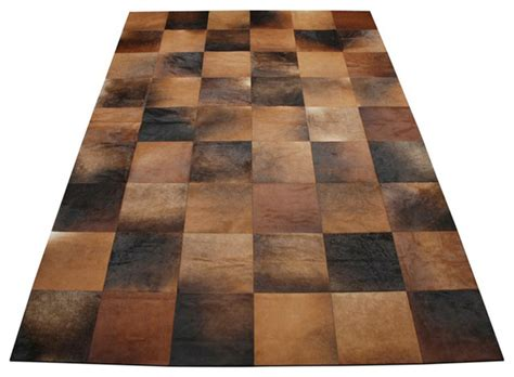 patchwork cowhide rugs cuadrado 8 quot squares cowhide patchwork rug modern rugs