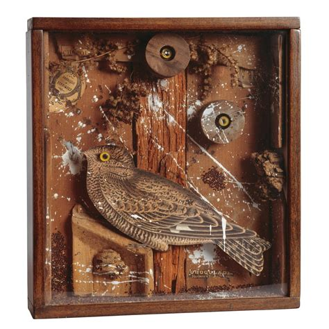 joseph cornell bird   box wood cork