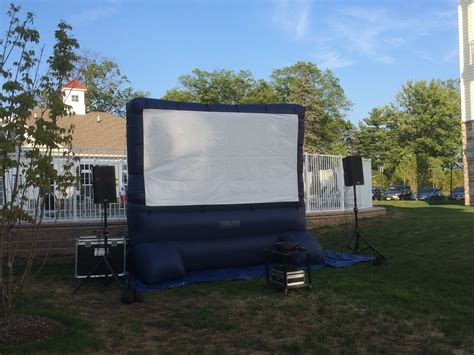Backyard Screen Rentals by Screen Rentals In Nj Cmt Sound Systems