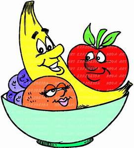 Cartoon Fruit Bowl Live healthy myherbalmart.com | Healthy ...