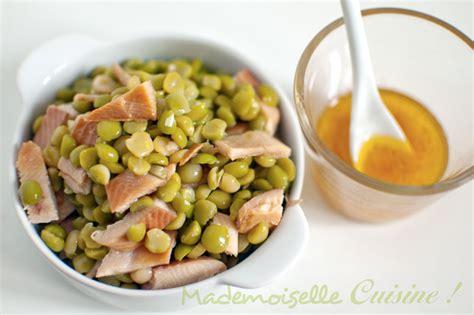 salade de pois cass 233 s truite fum 233 e et sauce au miel recette de cuisine mademoiselle cuisine