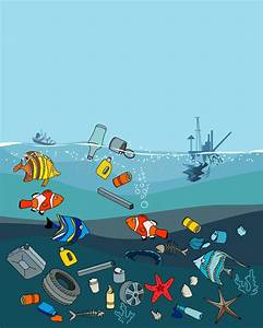 Water Pollution In The Ocean. Garbage And Waste. Stock ...