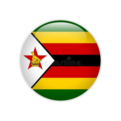 zimbabwe symbols  heart shape concept stock vector