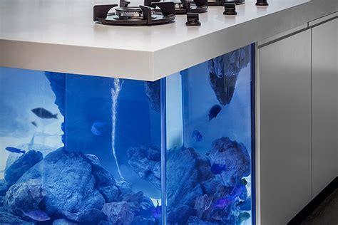 Ocean Kitchen Aquarium Island   HiConsumption