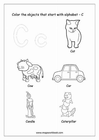 Letter Start Things Worksheets Printable Kindergarten Alphabet