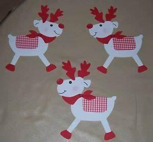 Basteln Winter Vorlagen : 3 weihnachtselche fensterbild aus tonkarton rot weiss basteln weihnachten fensterbilder ~ Watch28wear.com Haus und Dekorationen