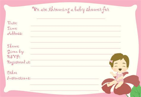 baby shower templates free printable free printable baby shower flyers template baby shower ideas