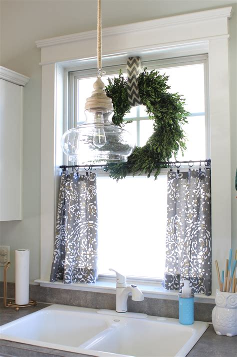 No Sew Cafe Curtains Day 22  Simple Stylings. Rustic Silverware. Palm Leaf Ceiling Fan With Light. Drop Leaf Pub Table. Scan Design Tampa. Brick Floors. End Of Bed Storage Bench. Hidden Door Plans. Small Fireplace