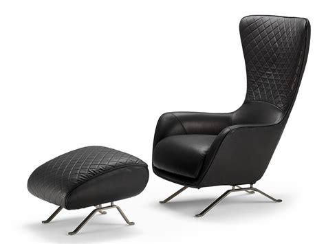 High-back Leather Armchair Sin Seaty By Arketipo Design