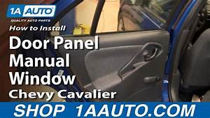 How To Install Replace Rear Door Panel Manual Windows