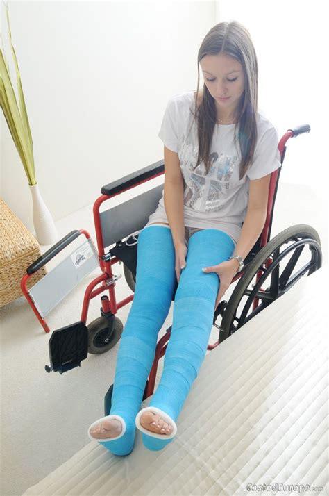 Girl Double Blue Long Leg Cast Long Leg Cast Leg Cast