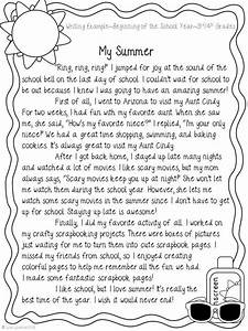 Narrative Writing ~ My Summer   Narrative writing, School ...
