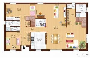 maison bois 1 detail du plan de maison bois 1 faire With nice plan d une maison en 3d 10 maison plain pied en ossture bois ecologique