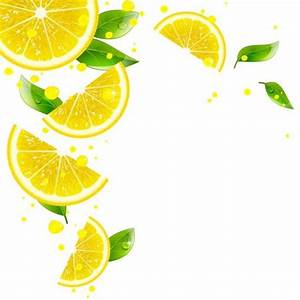 Background of Lemon and juice splashes vector - Vector ...