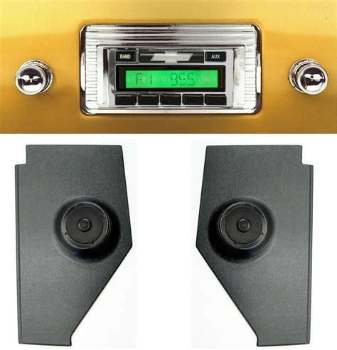 1947 1953 chevy truck radio kick panels w speakers aux cable stereo 230 ebay