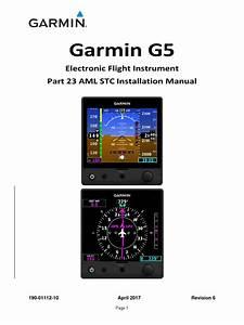 Garmin G5 Install Manual Pdf
