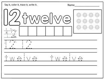 number words worksheets 11 20 by kids learning basket