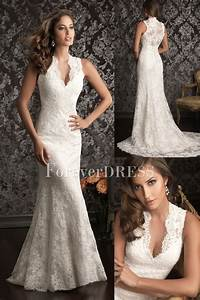 Casual white mermaid wedding dress made of of lace and satin for White casual wedding dress