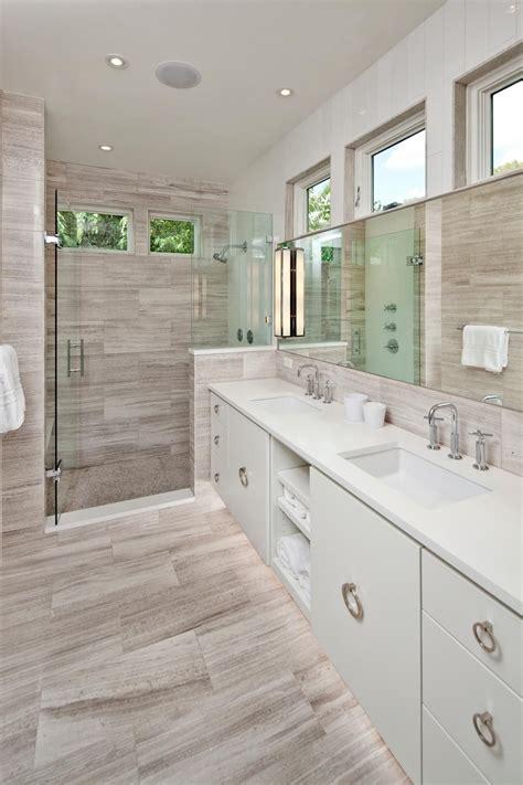 Grey Wood Tile Bathroom by Home 2016 Pool Bathroom Remodel Bathroom