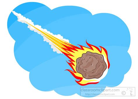 Asteroid-comet-meteoroid-falling-from-sky-clipart