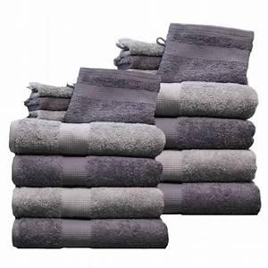 Handtücher Set Grau : 16 tlg handtuch set hellgrau grau 8 handt cher 8 waschhandschuhe 550 g m ebay ~ Indierocktalk.com Haus und Dekorationen