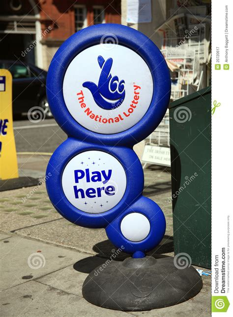 lotto national lottery play  stand editorial