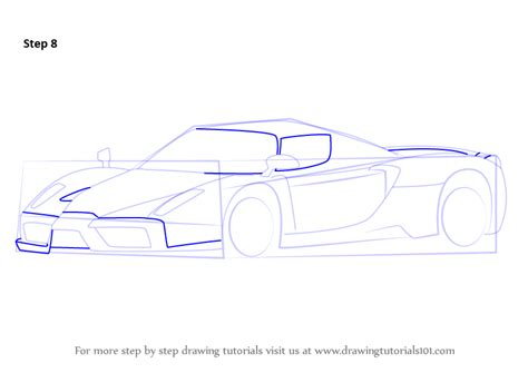 How To Draw A Enzo by Learn How To Draw A Enzo Sports Cars Step By