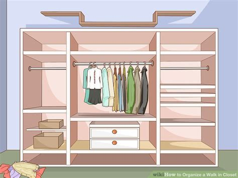 how to organize a walk in closet steps with