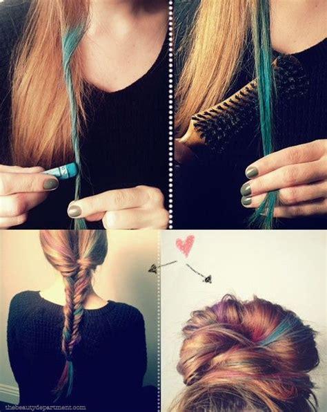 chalk   pastel  hair  summer