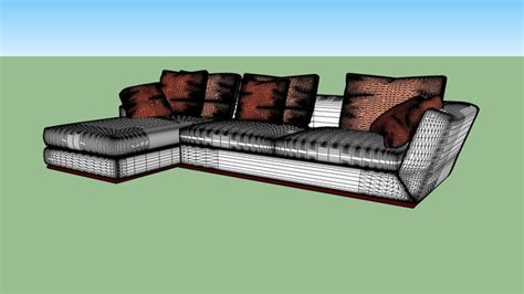 chaise 3 en 1 sofa chaise 3 lugares 3d warehouse