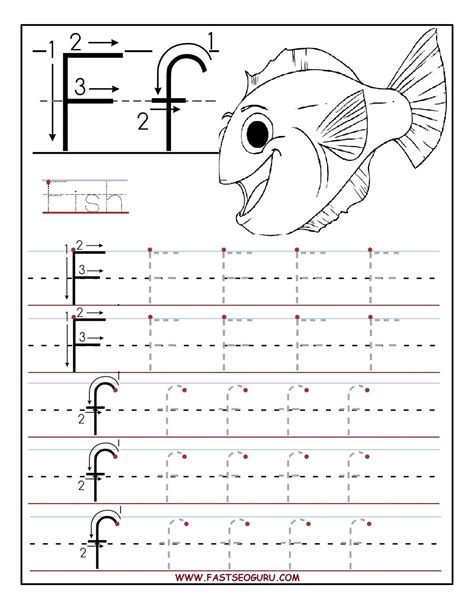 printable letter f tracing worksheets for preschool 298 | 51cbb0974894dc77263f661d598644d9