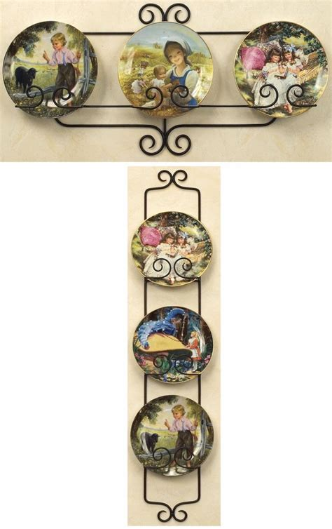 place vertical  horizontal plate hangers decorative plates display plates  wall