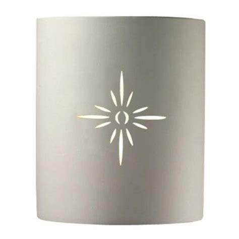 justice 1 light outdoor half cylinder sunburst ceramic