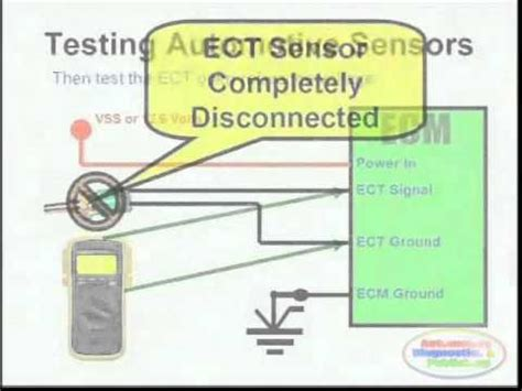 ect sensor wiring diagram youtube