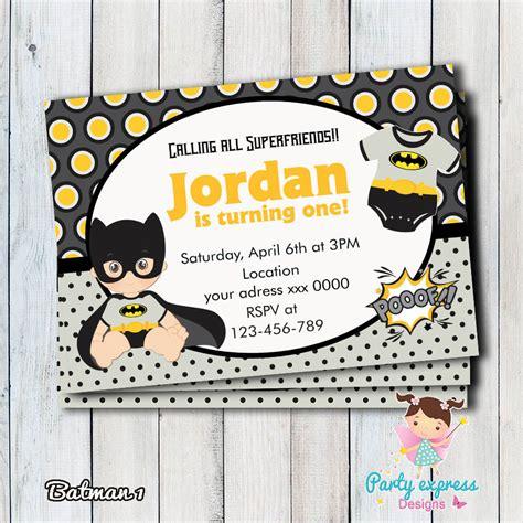 invitaci 243 n batman baby ni 241 o superheroe digital de partyexpressdesigns en etsy invitaciones