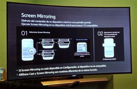 screen mirroring to samsung tv todo sobre las smart tv de samsung de 2014 tuexperto