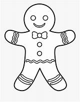 Gingerbread Man Template Colouring Clipart Pages Clipartkey sketch template