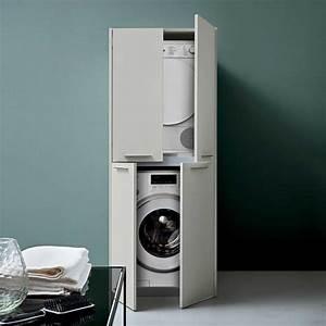 Schrank Waschmaschine Trockner : blizzard hochschrank f r waschmaschine und trockner arredaclick in 2019 trockner auf ~ A.2002-acura-tl-radio.info Haus und Dekorationen